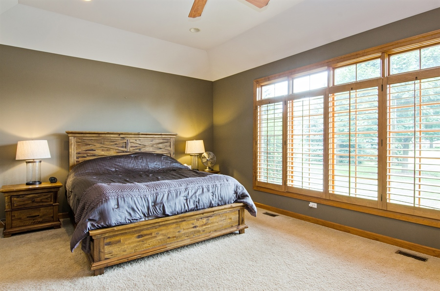 Real Estate Photography - 7930 Dunhill, Lakewood, IL, 60014 - Master Bedroom