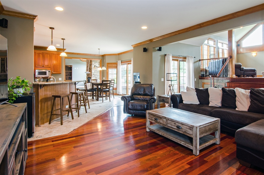 Real Estate Photography - 7930 Dunhill, Lakewood, IL, 60014 - Family Room