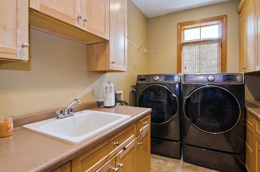 Real Estate Photography - 7930 Dunhill, Lakewood, IL, 60014 - Laundry Room