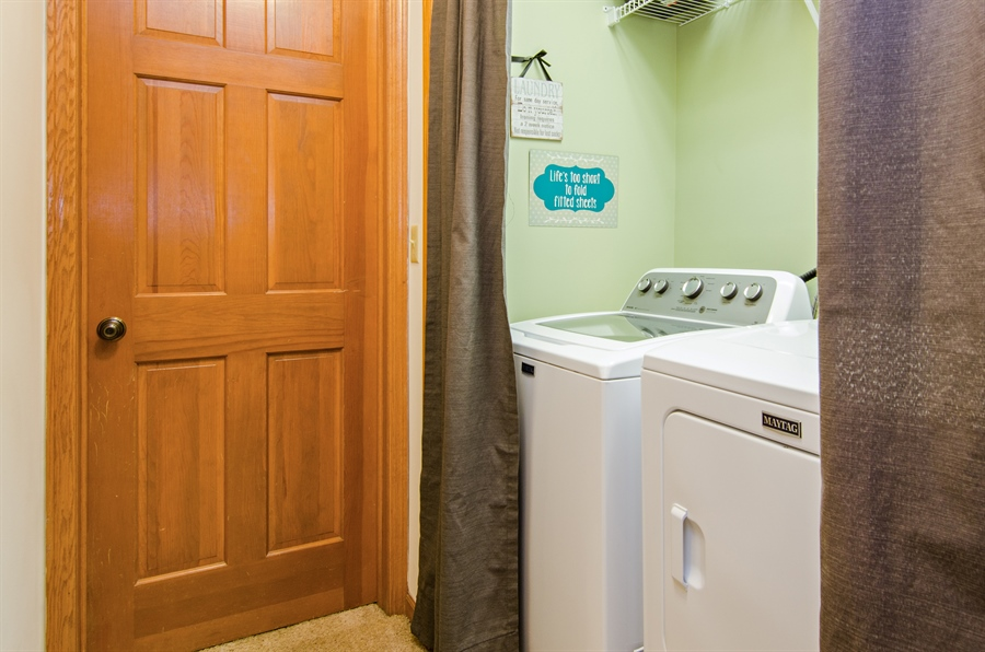 Real Estate Photography - 27 Bryant Ct, Crystal Lake, IL, 60014 - Laundry Room