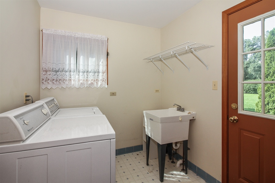 Real Estate Photography - 170 SOUTH HILL STREET, WOODSTOCK, IL, 60098 - Laundry Room