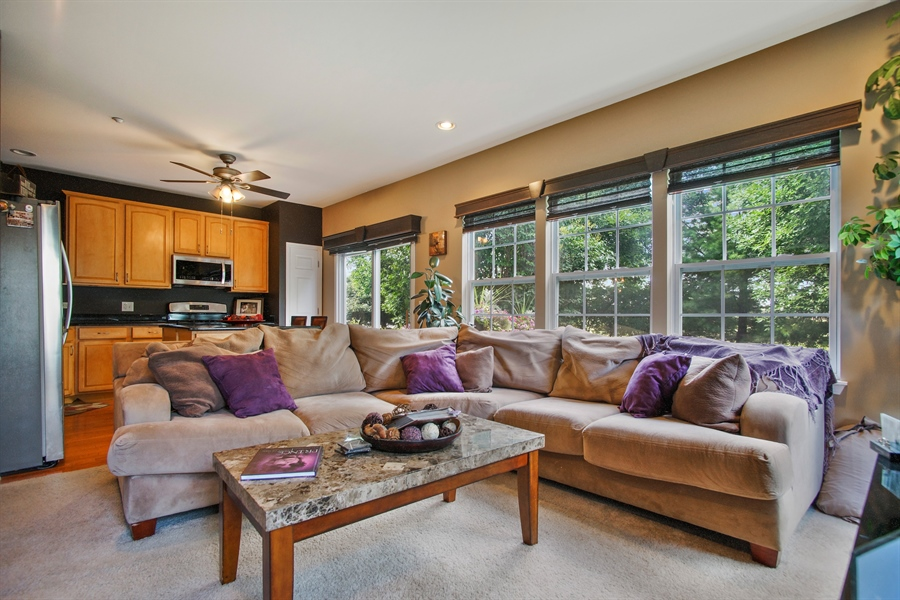 Real Estate Photography - 6100 Canterbury Ln., Hoffman Estates, IL, 60192 - Living Room