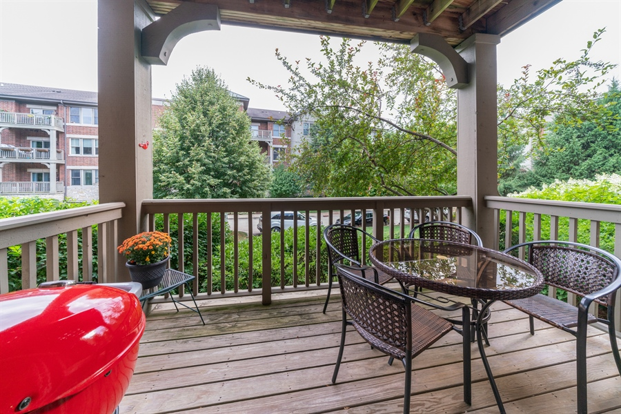 Real Estate Photography - 271 E Railroad Ave, 105, Bartlett, IL, 60103 - Balcony