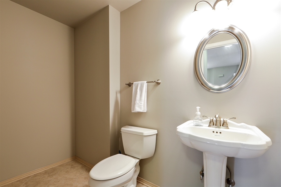 Real Estate Photography - 763 Regency, Crystal Lake, IL, 60014 - Powder Room