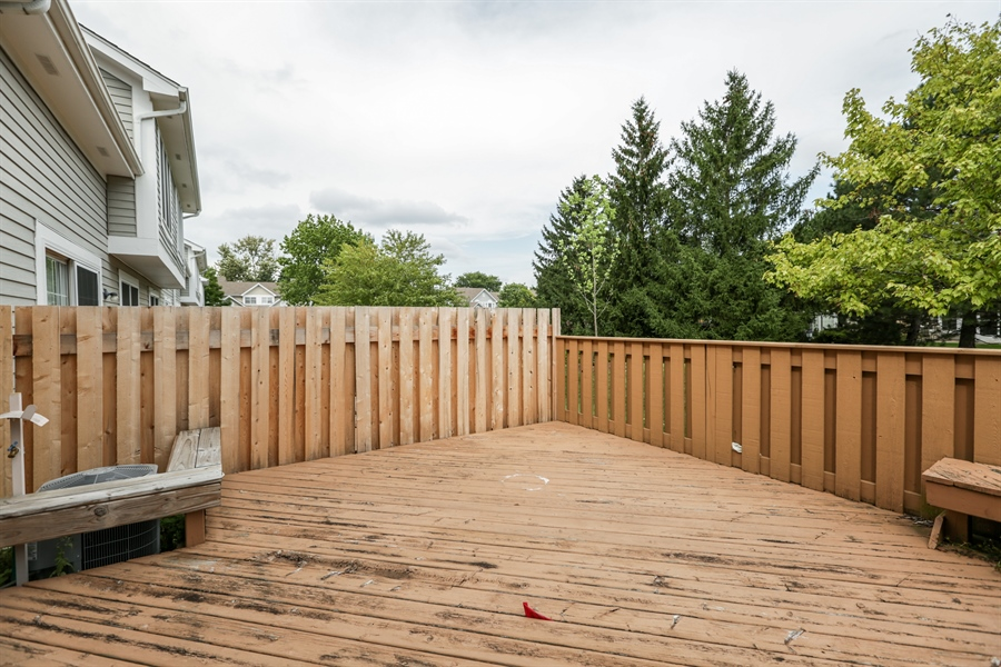 Real Estate Photography - 763 Regency, Crystal Lake, IL, 60014 - Deck