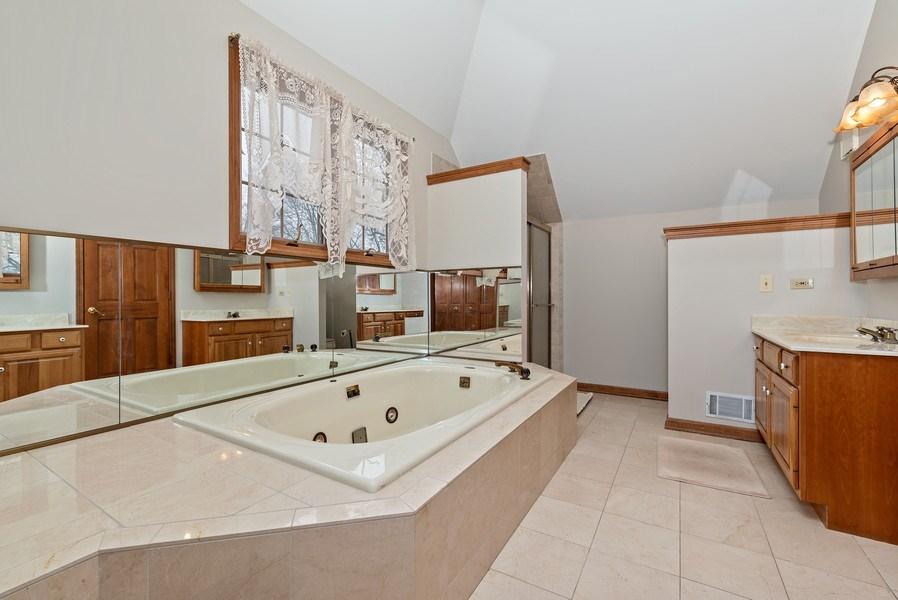 Real Estate Photography - 5N832 E. Ridgewood Drive, St. Charles, IL, 60175 - Master Bathroom