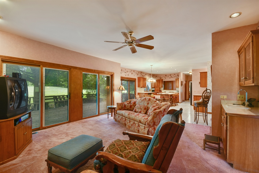 Real Estate Photography - 5N832 E. Ridgewood Drive, St. Charles, IL, 60175 - Family Room