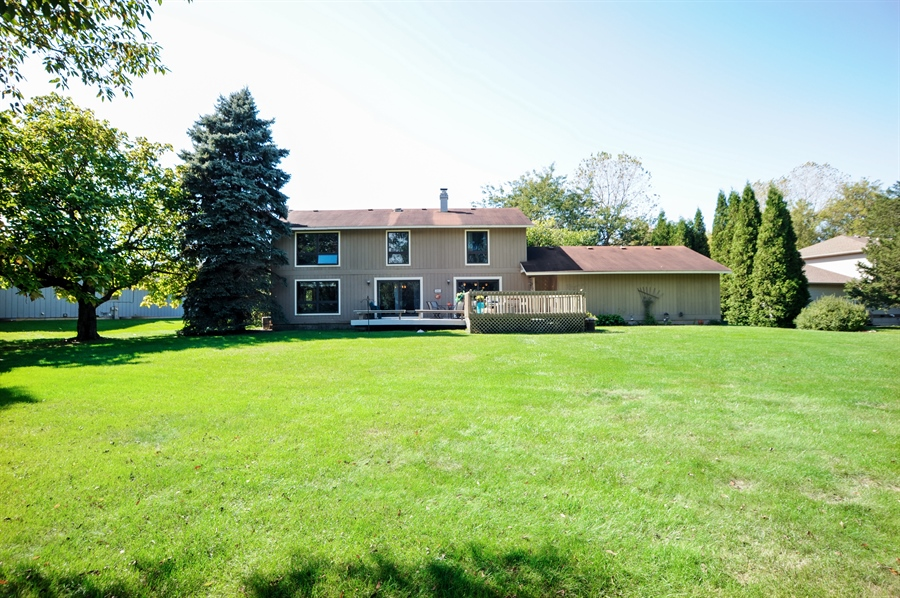 Real Estate Photography - 2736 Knob Hill, Johnsburg, IL, 60051 - Rear View