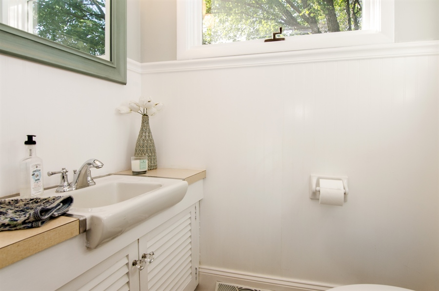 Real Estate Photography - 85 Center Street, Crystal Lake, IL, 60014 - Powder Room