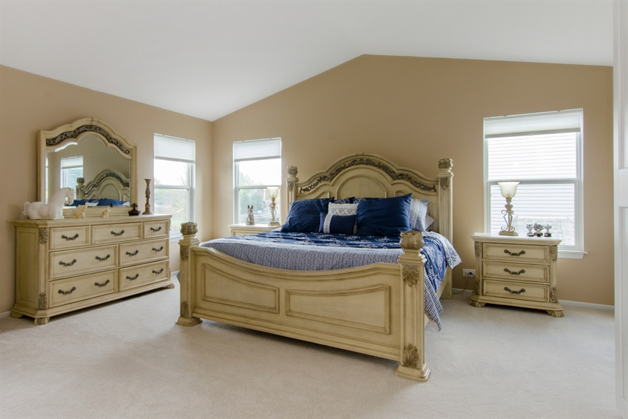 Real Estate Photography - 833 Willow, Lake In The Hills, IL, 60156 - Master Bedroom