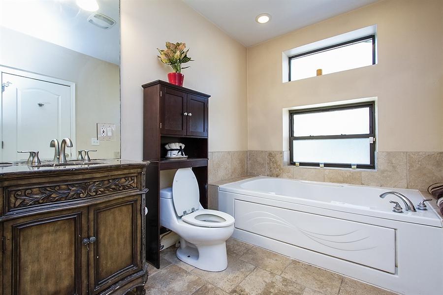 Real Estate Photography - 6547 S. Ellis Avenue, Unit 1N, Chicago, IL, 60637 - Master Bathroom