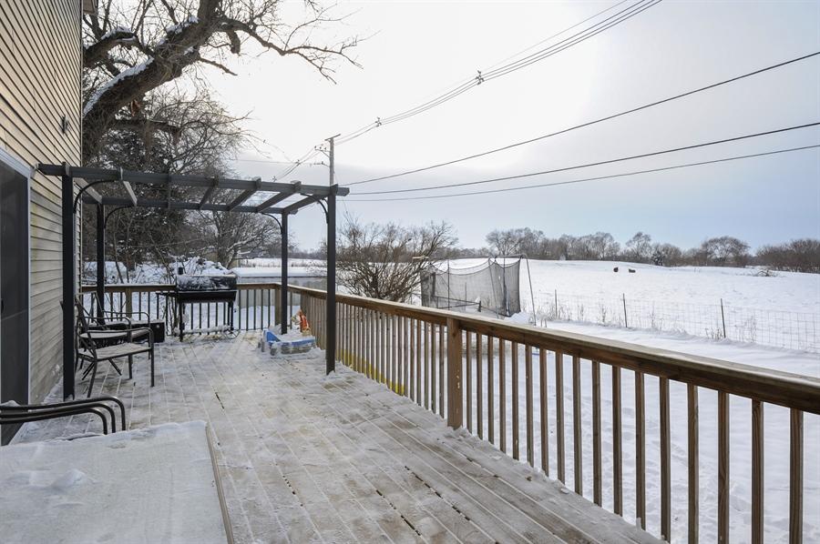 Real Estate Photography - 5701 Wonder Woods, Wonder Lake, IL, 60097 - Deck