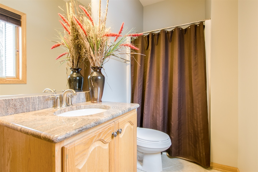 Real Estate Photography - 12265 Oakcrest Drive, Huntley, IL, 60142 - 3rd Bathroom