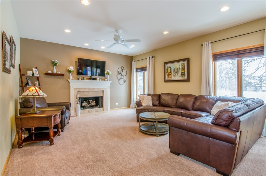 Real Estate Photography - 12265 Oakcrest Drive, Huntley, IL, 60142 - Family Room