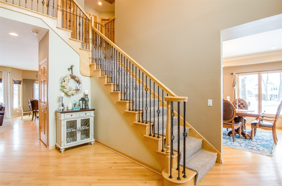 Real Estate Photography - 12265 Oakcrest Drive, Huntley, IL, 60142 - Foyer