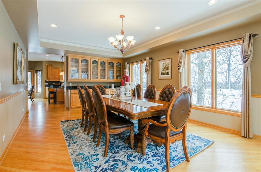 Real Estate Photography - 12265 Oakcrest Drive, Huntley, IL, 60142 - Dining Room