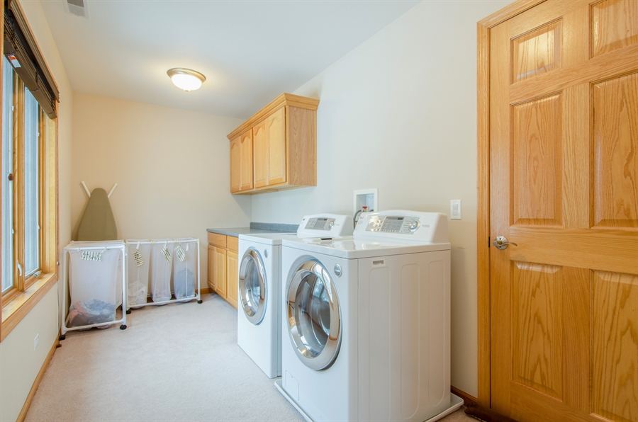 Real Estate Photography - 12265 Oakcrest Drive, Huntley, IL, 60142 - Laundry Room