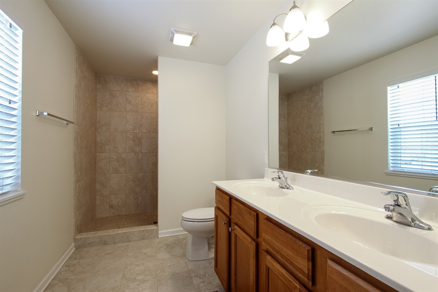 Real Estate Photography - 810 Hanson Ave, McHenry, IL, 60050 - Master Bathroom