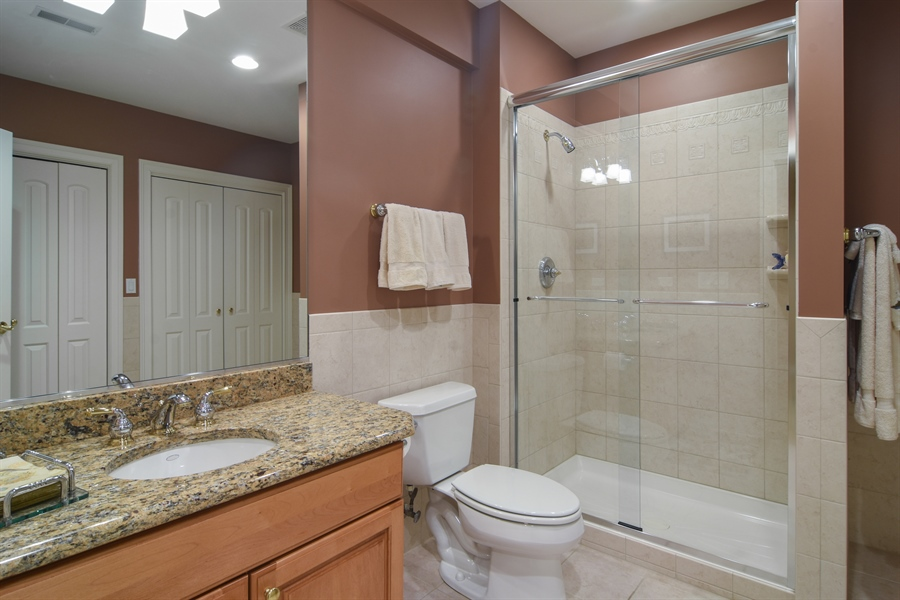 Real Estate Photography - 21558 W Goldfinch Ct, Kildeer, IL, 60047 - Lower Level Bathroom