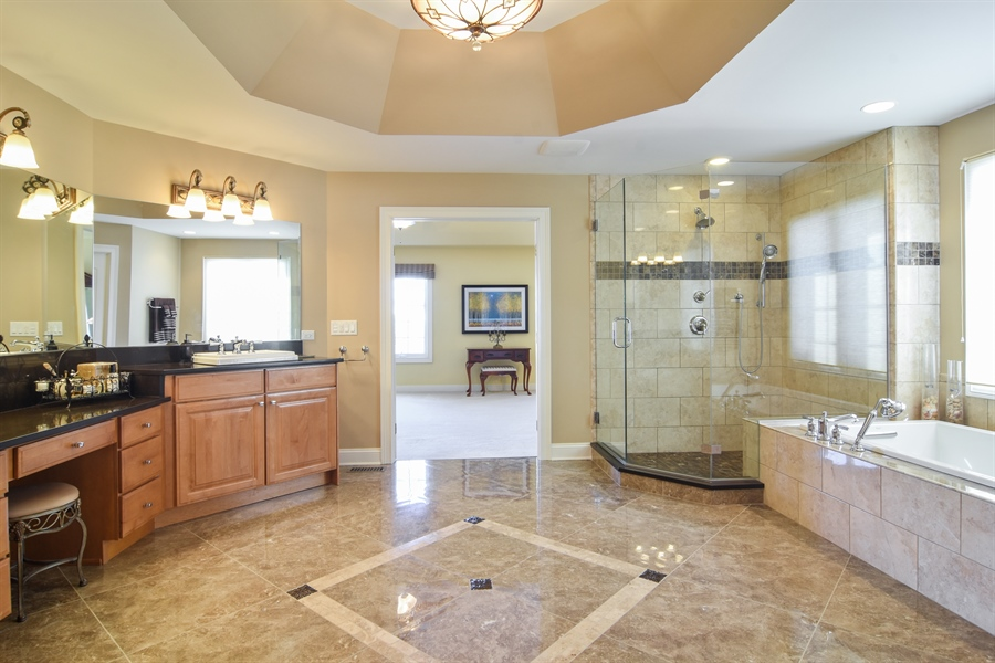 Real Estate Photography - 21558 W Goldfinch Ct, Kildeer, IL, 60047 - Master Bathroom