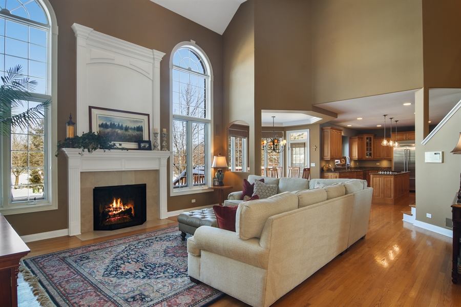 Real Estate Photography - 21558 W Goldfinch Ct, Kildeer, IL, 60047 - Family Room