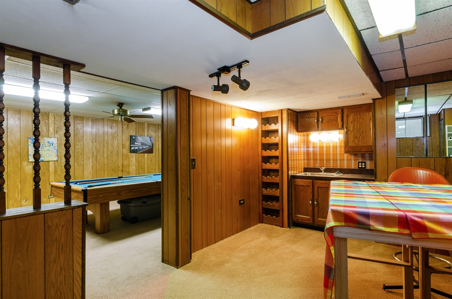 Real Estate Photography - 835 Glendale Drive, Crystal Lake, IL, 60014 - RETRO WET BAR