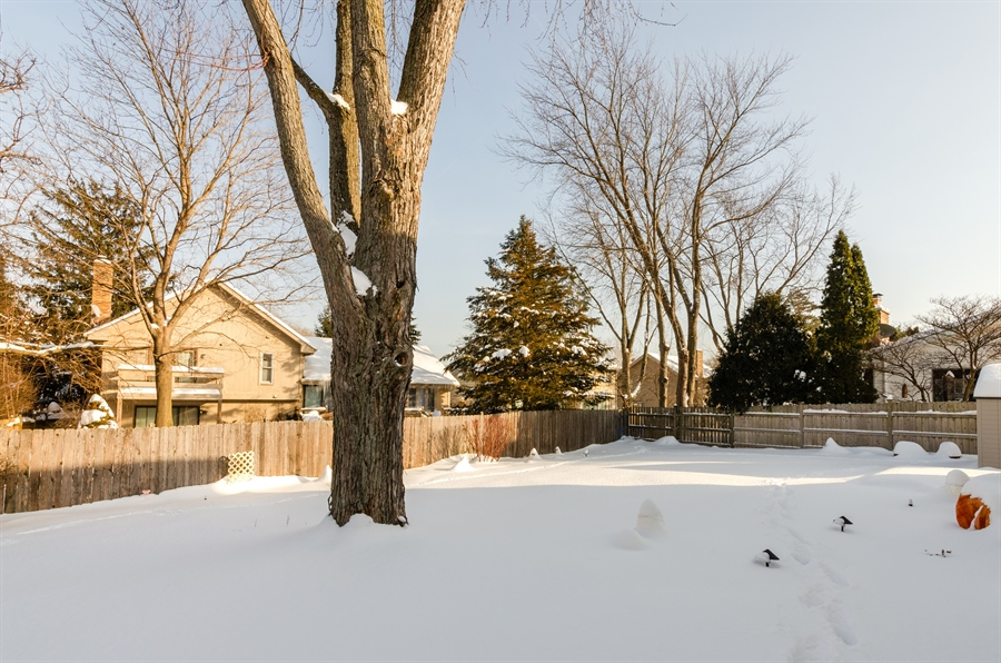 Real Estate Photography - 835 Glendale Drive, Crystal Lake, IL, 60014 - HUGE PATIO BENEATH THE SNOW!