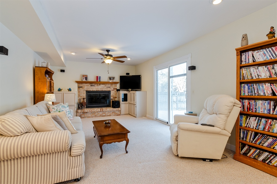 Real Estate Photography - 835 Glendale Drive, Crystal Lake, IL, 60014 - FAMILY ROOM WITH GAS FIREPLACE
