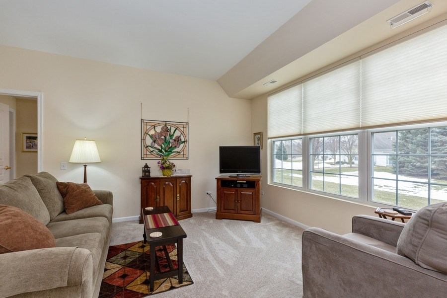 Real Estate Photography - 12627 Rock Island Trail, Huntley, IL, 60142 - Living Room