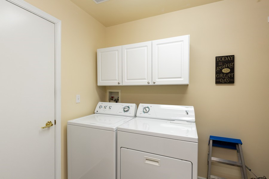 Real Estate Photography - 12627 Rock Island Trail, Huntley, IL, 60142 - Laundry Room