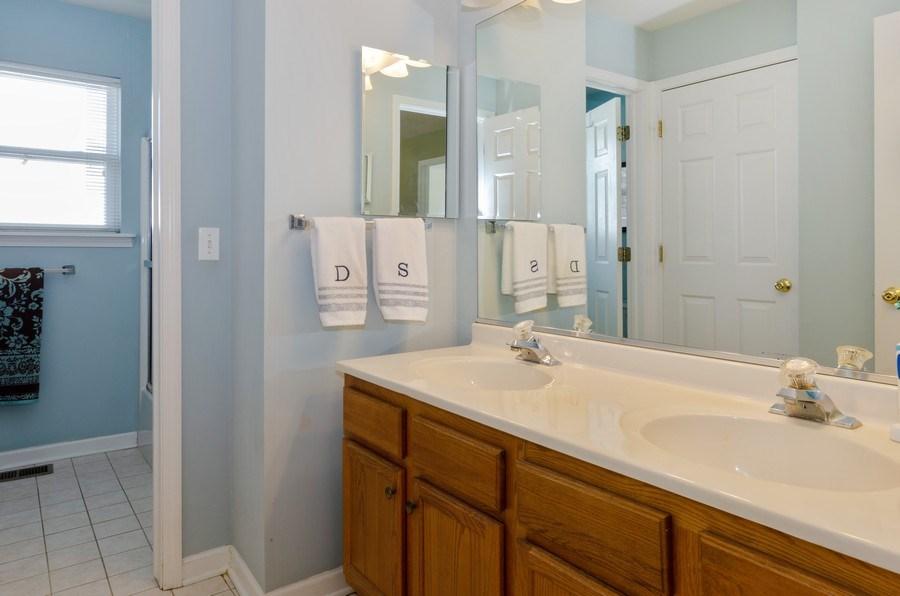 Real Estate Photography - 57 Sarah Dr., Crystal Lake,, IL, 60014 - 2nd Bathroom