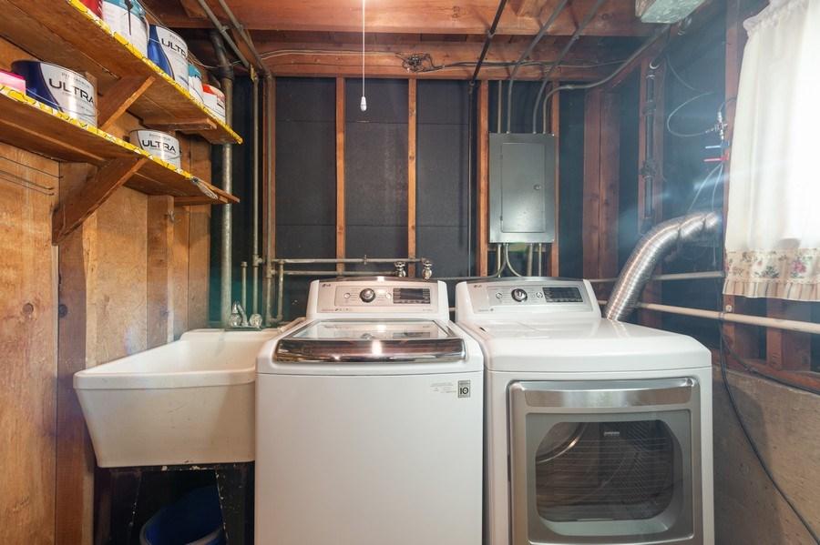 Real Estate Photography - 720 S LaGrange Rd, La Grange, IL, 60525 - Laundry Room