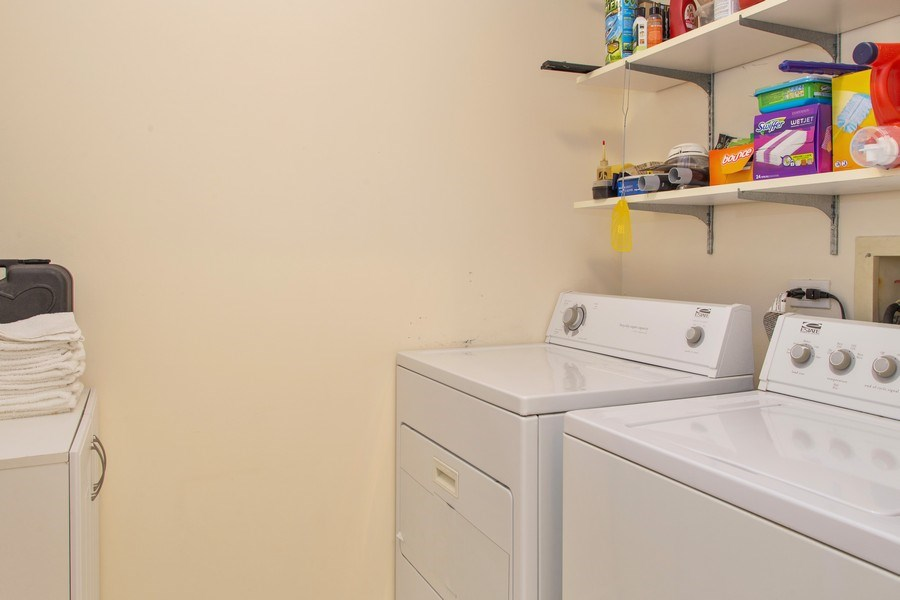 Real Estate Photography - 272 Kings Mill Court, Unit C2, Schaumburg, IL, 60193 - Laundry Room