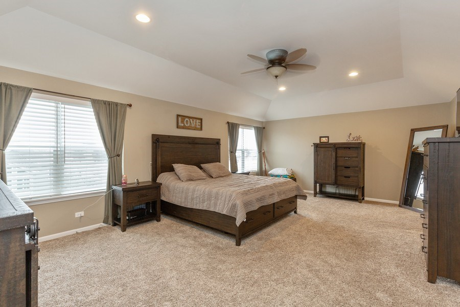 Real Estate Photography - 161 N Bend Way, Elgin, IL, 60124 - Master Bedroom