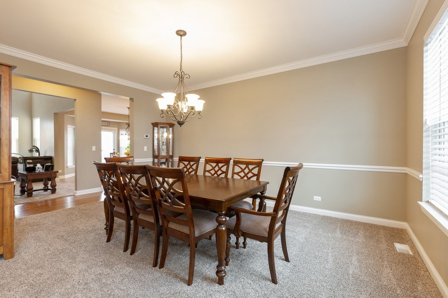 Real Estate Photography - 161 N Bend Way, Elgin, IL, 60124 - Dining Room