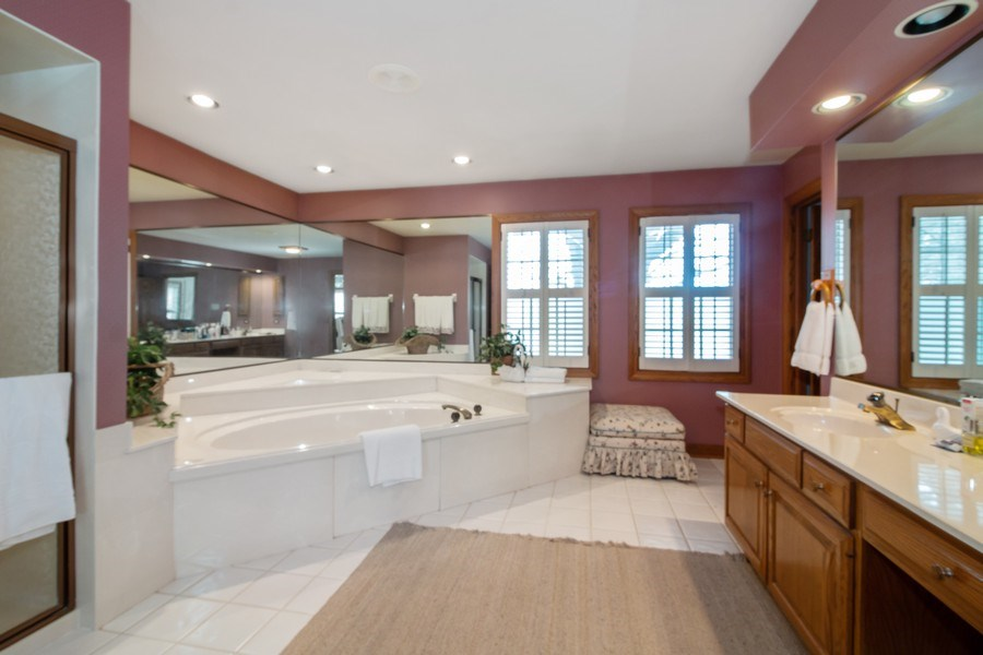 Real Estate Photography - 1212 Bull Valley Drive, Woodstock, IL, 60098 - Master Bathroom