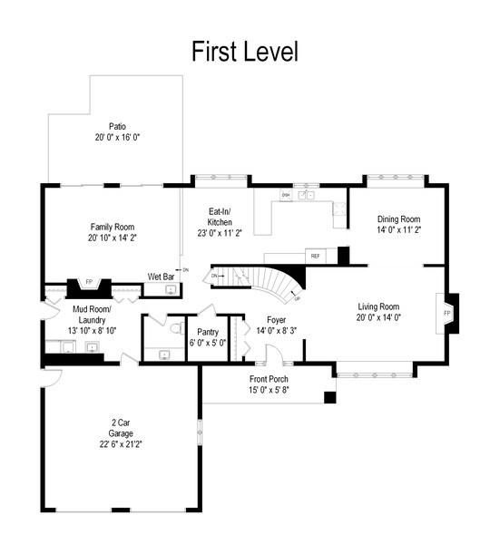 Real Estate Photography - 117 Lynnfield Lane, Schaumburg, IL, 60193 - Floor Plan
