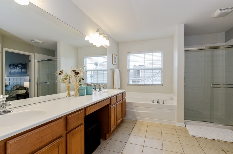 Real Estate Photography - 3117 Erika Lane, Carpentersville, IL, 60110 - Master Bathroom