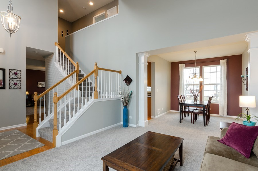 Real Estate Photography - 3117 Erika Lane, Carpentersville, IL, 60110 - Living Room / Dining Room