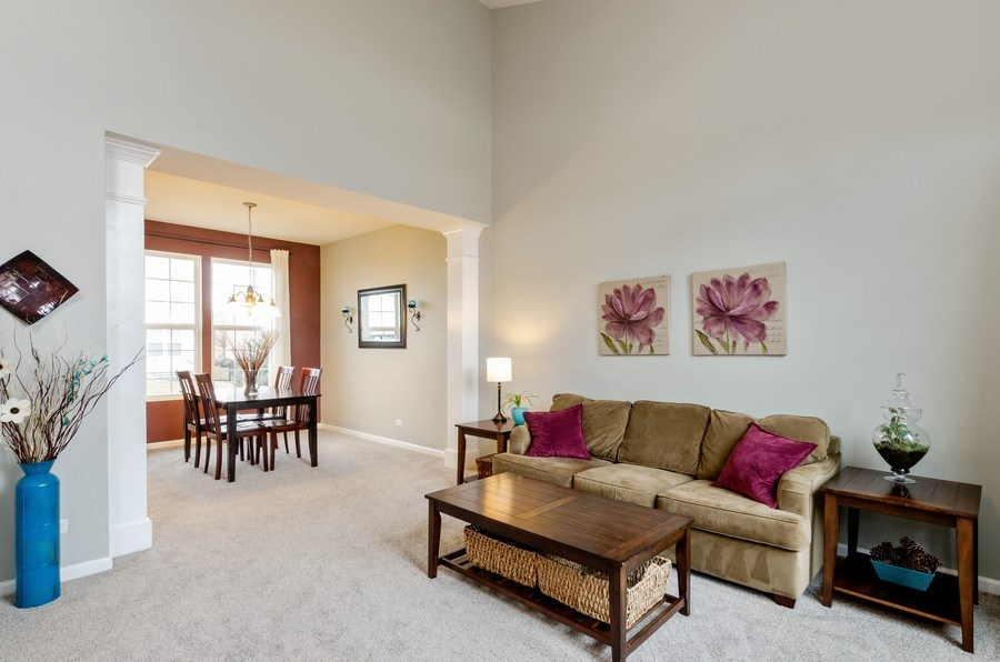 Real Estate Photography - 3117 Erika Lane, Carpentersville, IL, 60110 - Living Room/Dining Room