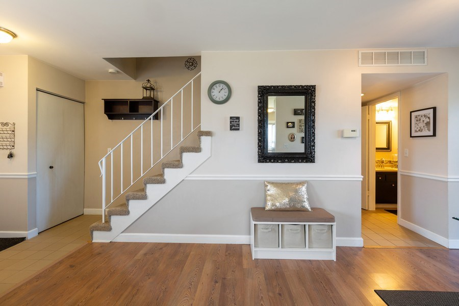Real Estate Photography - 1330 N Parkview Ter, Algonquin, IL, 60102 - Living Room / Staircase Wall