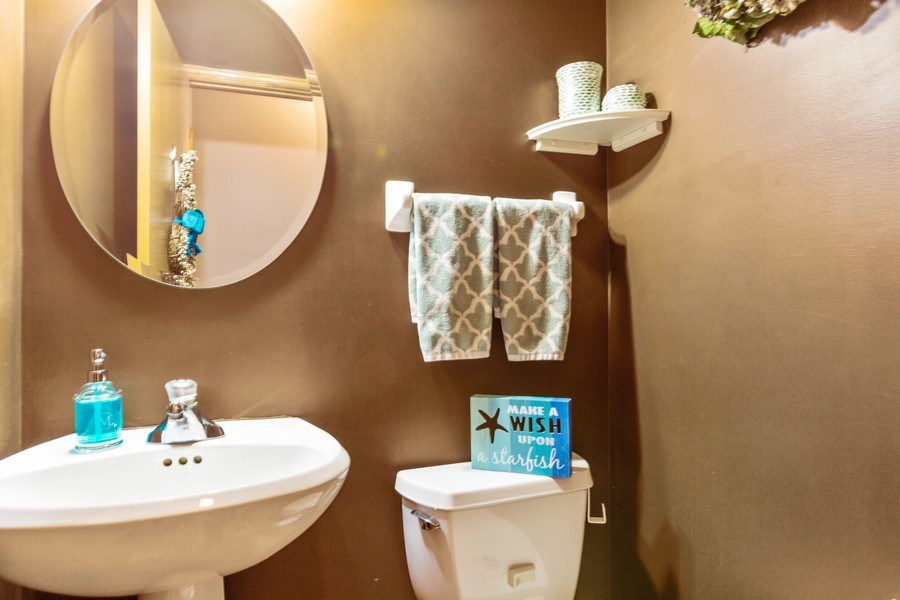 Real Estate Photography - 220 Katrina, Algonquin, IL, 60102 - Powder Room