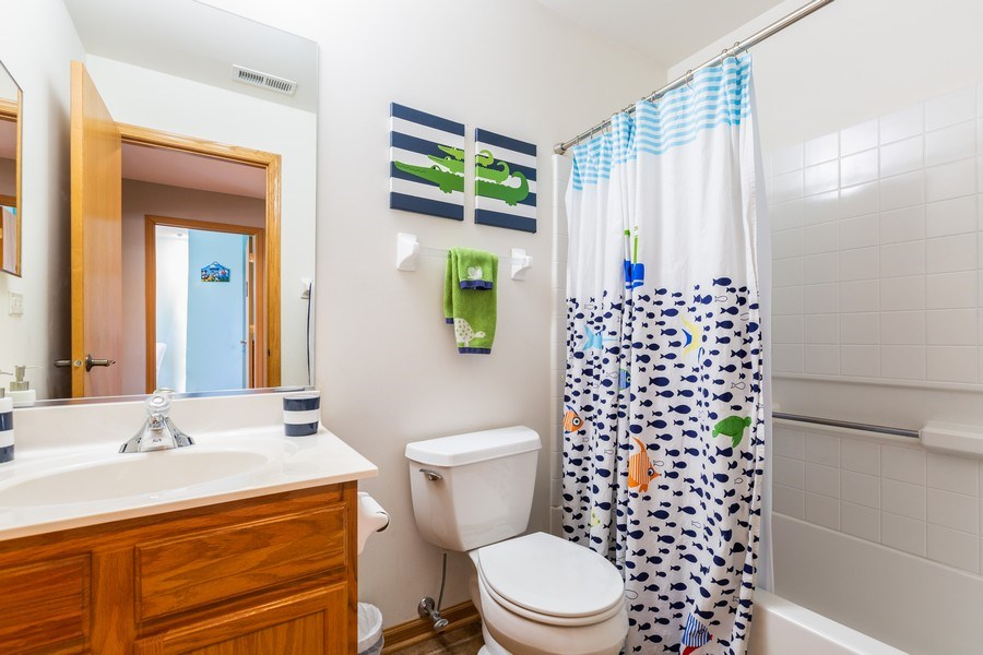 Real Estate Photography - 220 Katrina, Algonquin, IL, 60102 - 2nd Bathroom