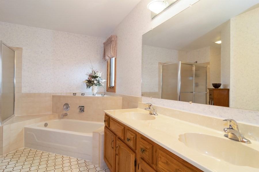Real Estate Photography - 4380 N Cottonwood Trail, Hoffman Estates, IL, 60192 - Master Bathroom