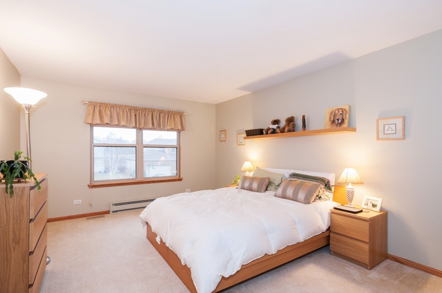 Real Estate Photography - 1025 Greenbriar Dr.,, Glendale Heights, IL, 60139 - Bedroom