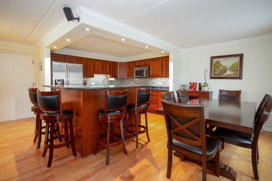Real Estate Photography - 1441 E THACKER #204, DES PLAINES, IL, 60016 - Kitchen/Dining