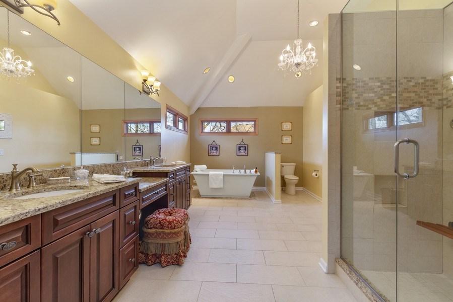 Real Estate Photography - 1210 Ivy Lane, Algonquin, IL, 60102 - Master Bathroom