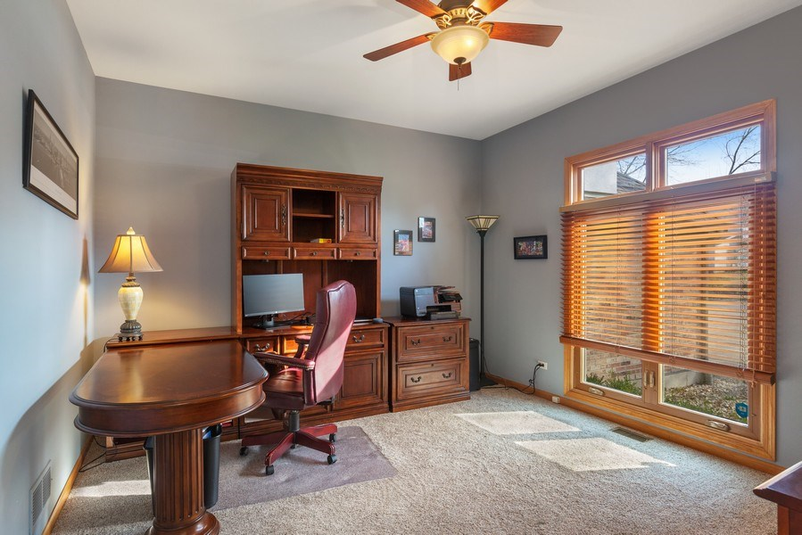 Real Estate Photography - 1210 Ivy Lane, Algonquin, IL, 60102 - Office
