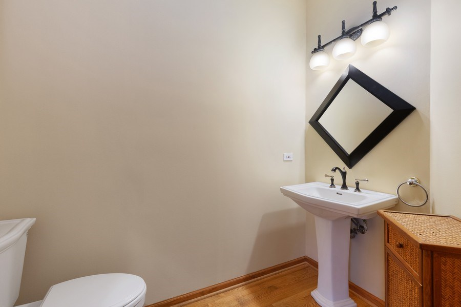 Real Estate Photography - 1210 Ivy Lane, Algonquin, IL, 60102 - Half Bath