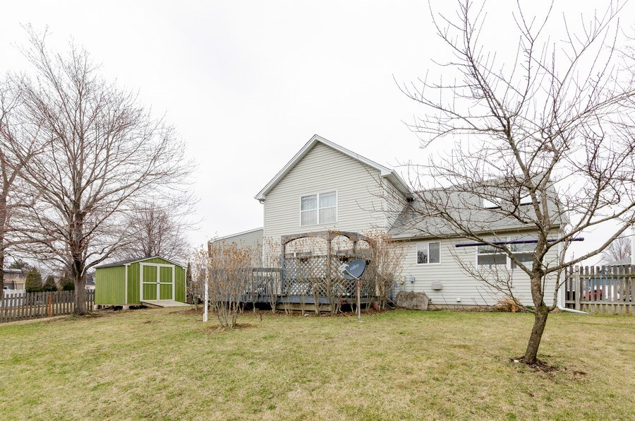 Real Estate Photography - 1263 Dogwood Ct., Elgin, IL, 60120 - Rear View